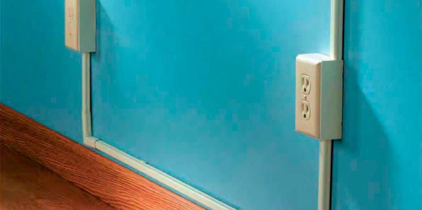 Caja de electricidad en hogar