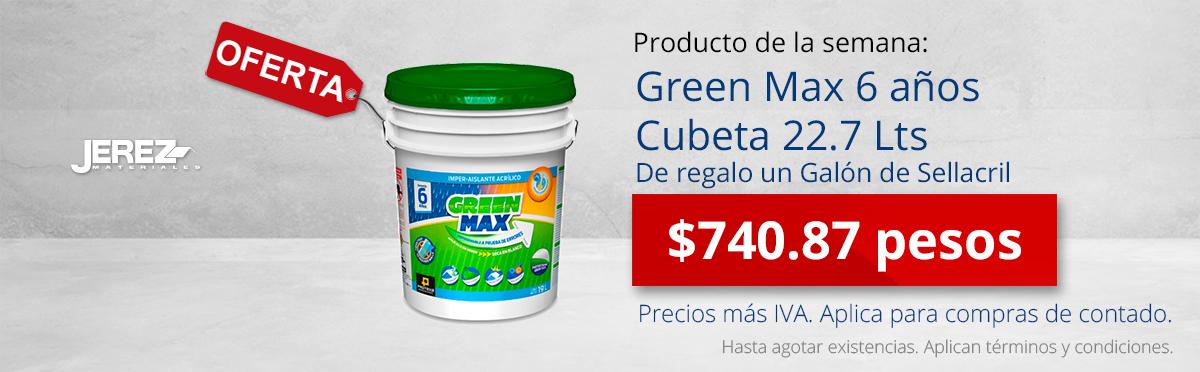 Promocion de la semana Green Max 5 años Jerez
